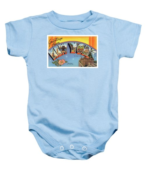 New York Greetings - Version 4 Baby Onesie