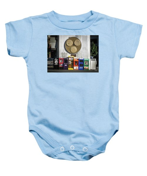 Newsstands At Gilmore Baby Onesie