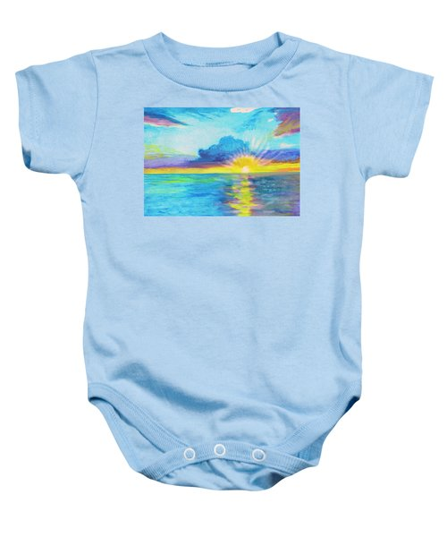 Ocean In The Morning Baby Onesie
