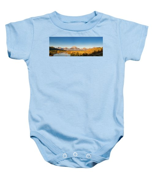 Baby Onesie featuring the photograph Oxbow In The Fall by Mary Hone