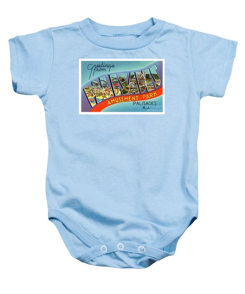 Palisades Amusement Park Greetings Baby Onesie