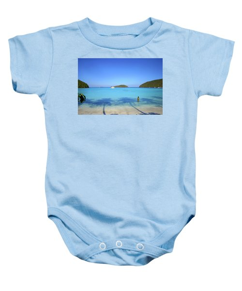 Palm Shadows On The Atlantic Baby Onesie