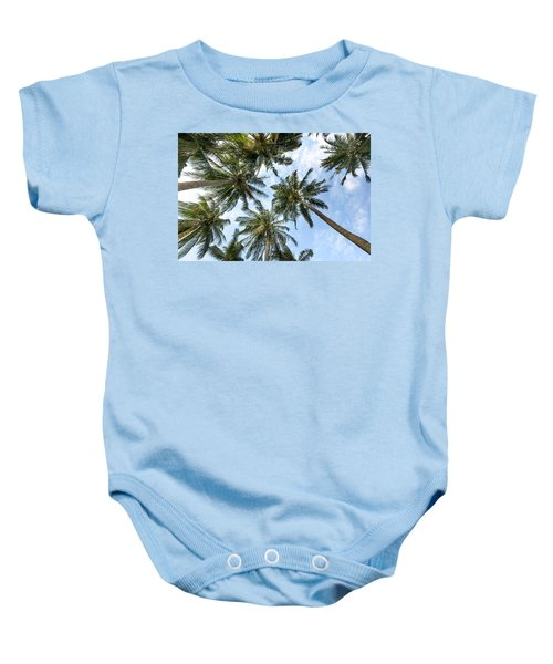 Palms  Beach Baby Onesie