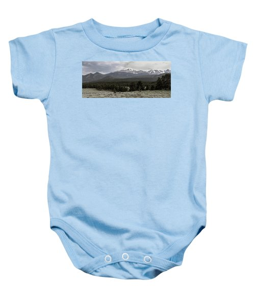 panoramic view of Rocky Mountains Baby Onesie