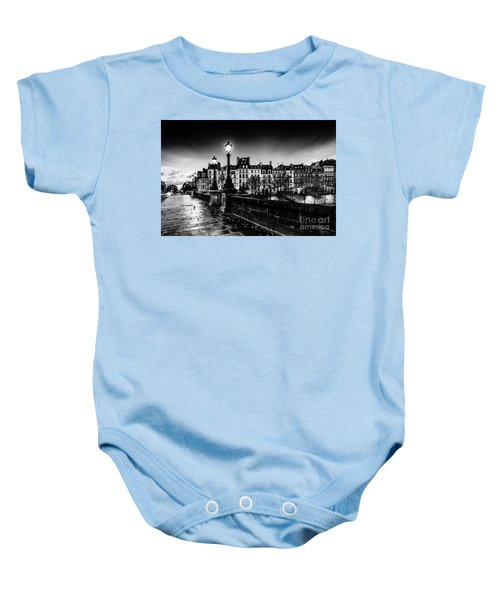 Paris At Night - Pont Neuf Baby Onesie