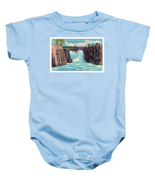 Passaic Falls And Chasm Bridge Paterson N J  Baby Onesie