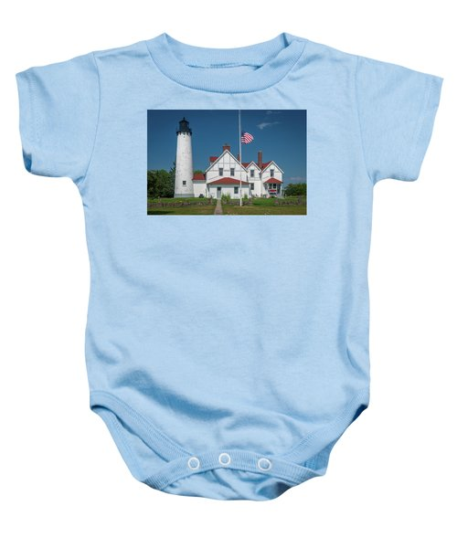 Point Iroquois Lighthouse Baby Onesie