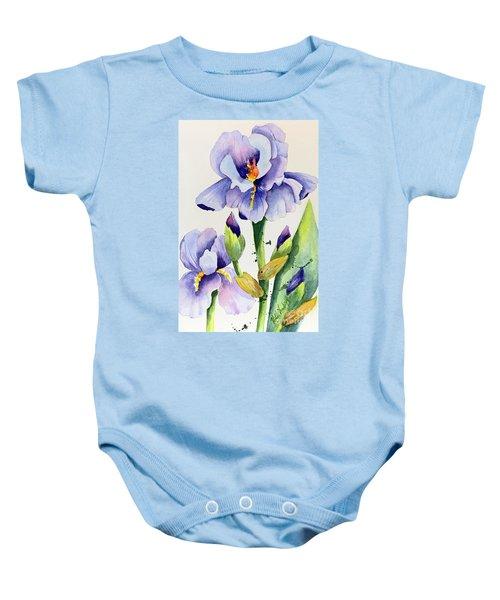 Purple Iris And Buds Baby Onesie