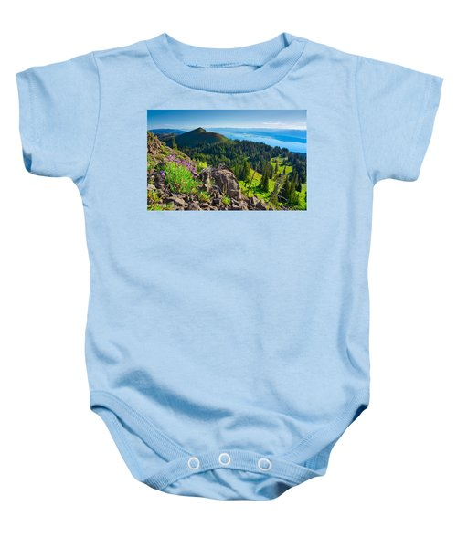 Purple Vista Baby Onesie