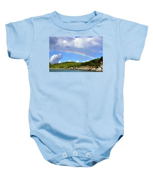 Rainbow Over Buck Island Lighthouse Baby Onesie