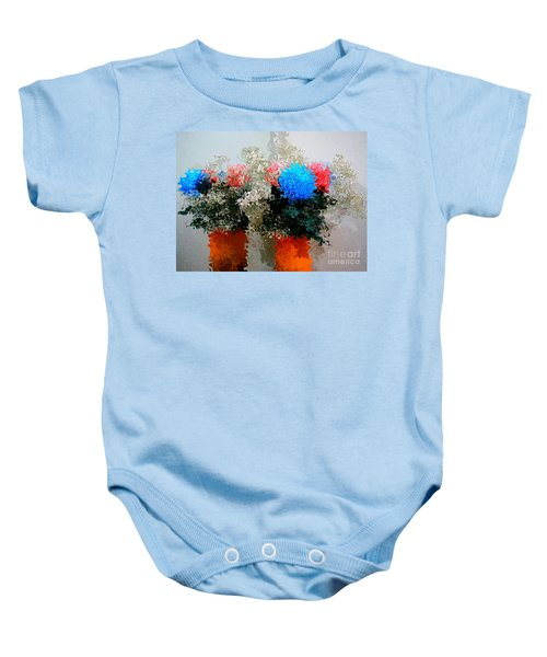 Reflection Of Flowers In The Mirror In Van Gogh Style Baby Onesie