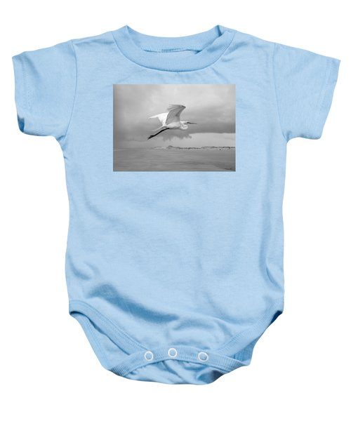 Retreat From Coming Storm Baby Onesie