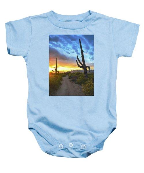 Saguaro Trail Baby Onesie