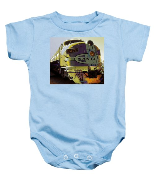 Santa Fe Railroad 347c - Digital Artwork Baby Onesie