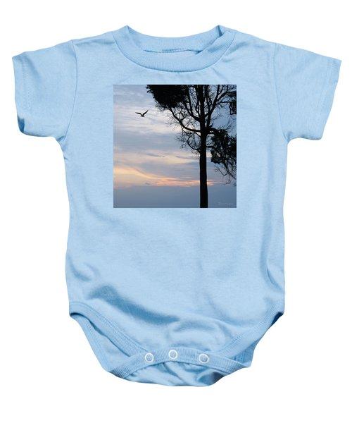 Seagull Sunset At Catawba Baby Onesie