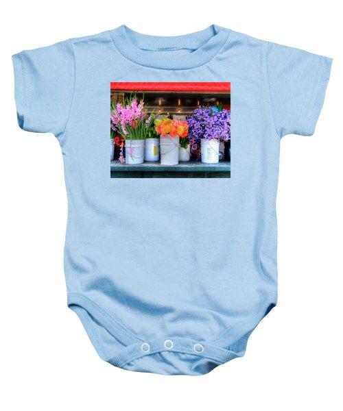 Seattle Flower Market Baby Onesie