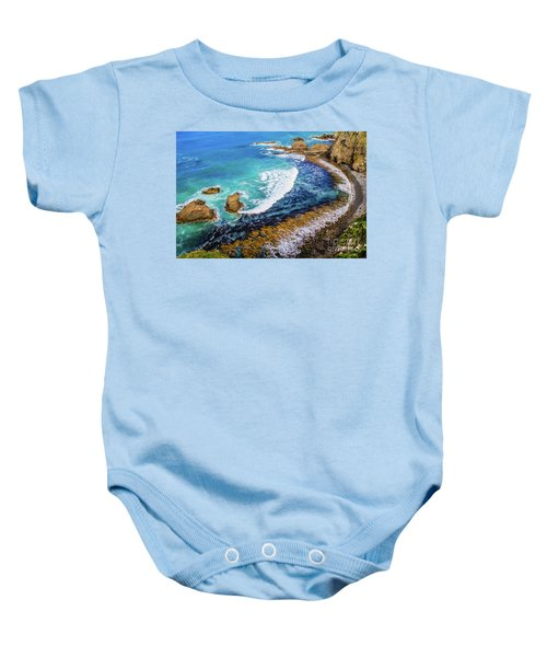 Roaring Bay At Nugget Point Baby Onesie