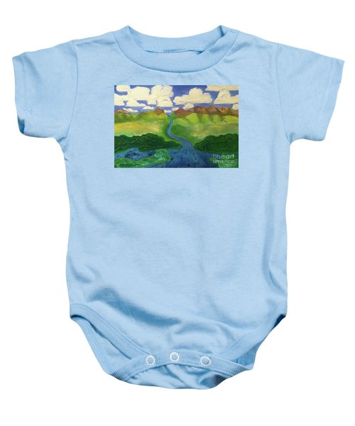 Sky River To Sea Baby Onesie