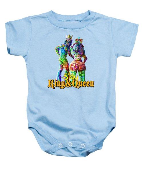 Slay King And Queen Baby Onesie