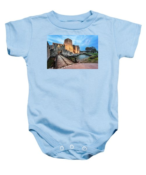Smederevo Fortress Gate And Bridge Baby Onesie
