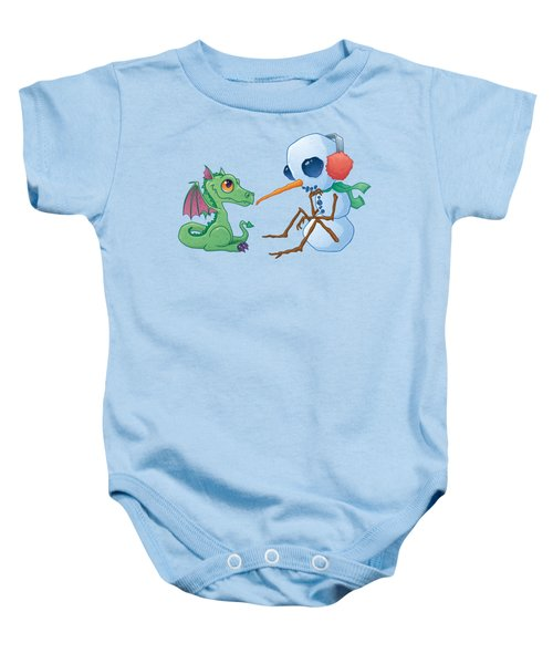 Snowman And Dragon Baby Onesie