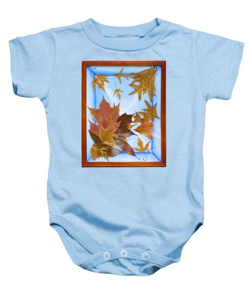 Splattered Leaves Baby Onesie