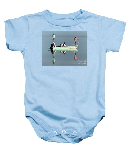 Still Fishing Baby Onesie