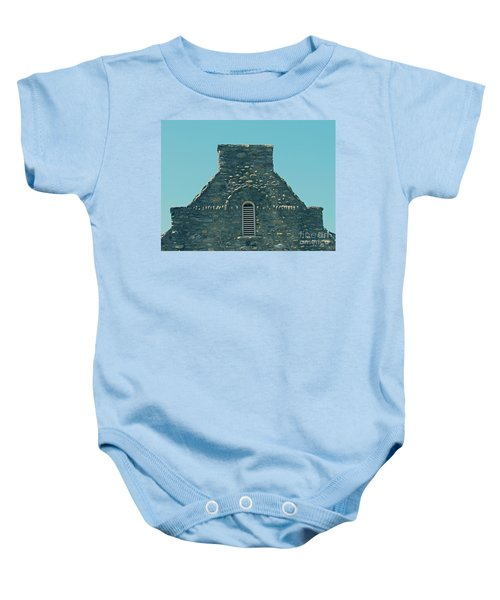 Stone Topper On Building Baby Onesie