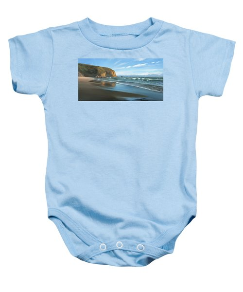 Strands Beach Dana Point Oil Painting Baby Onesie