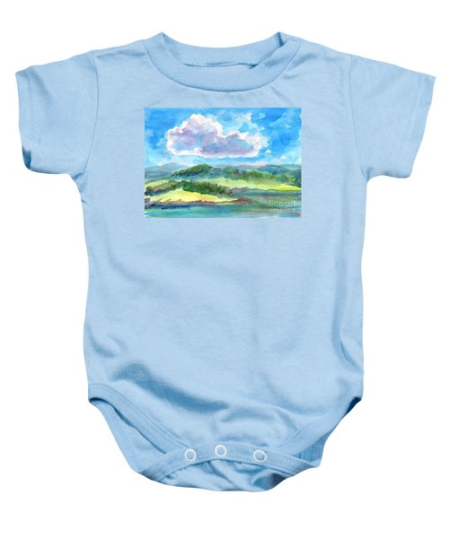 Summer Cloud In The Azure Sky Baby Onesie