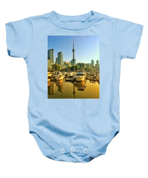 Sunrise At The Harbour Baby Onesie