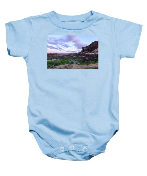 Sunrise In The Ancient Lakes Baby Onesie