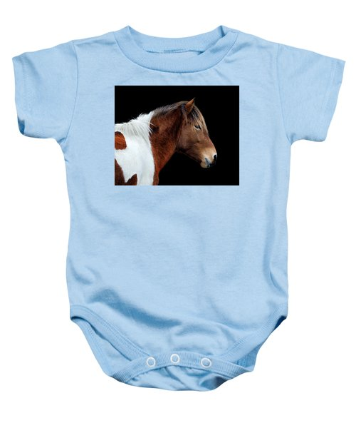 Susi Sole Portrait On Assateague Island Baby Onesie