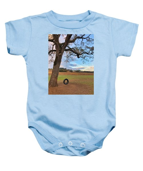 Swing In Tree Baby Onesie