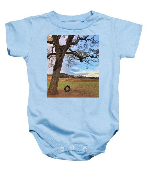 Swing In Tree Baby Onesie