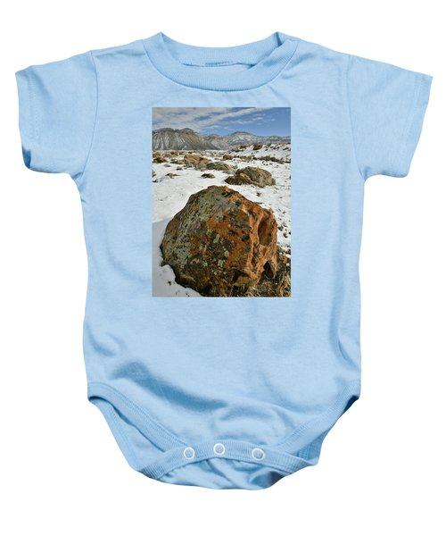 The Book Cliff's Colorful Boulders Baby Onesie