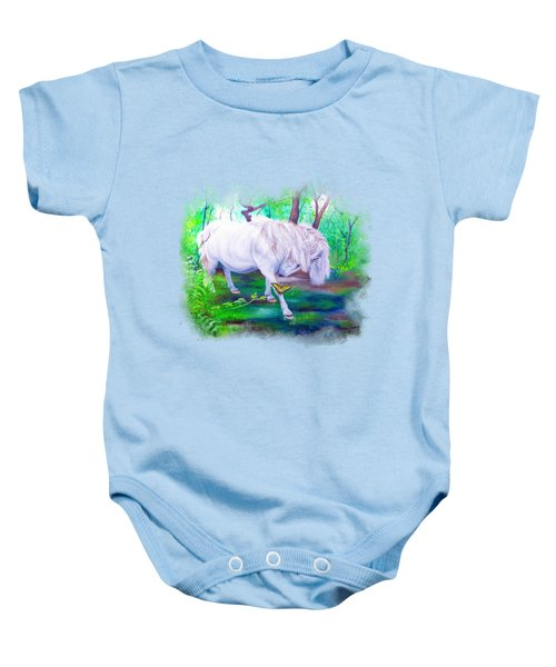 The Butterfly And The Pony Baby Onesie