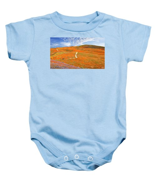 The Trail Through The Poppies Baby Onesie
