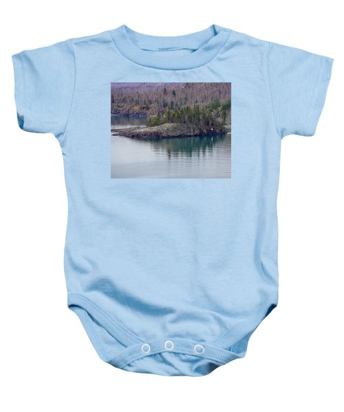 Tranquility In Silver Bay Baby Onesie