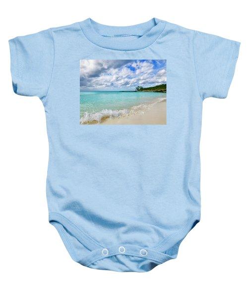 Tropical Beach Baby Onesie