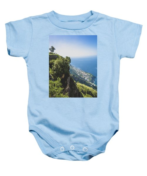 View Of Amalfi Italy From Path Of The Gods Baby Onesie
