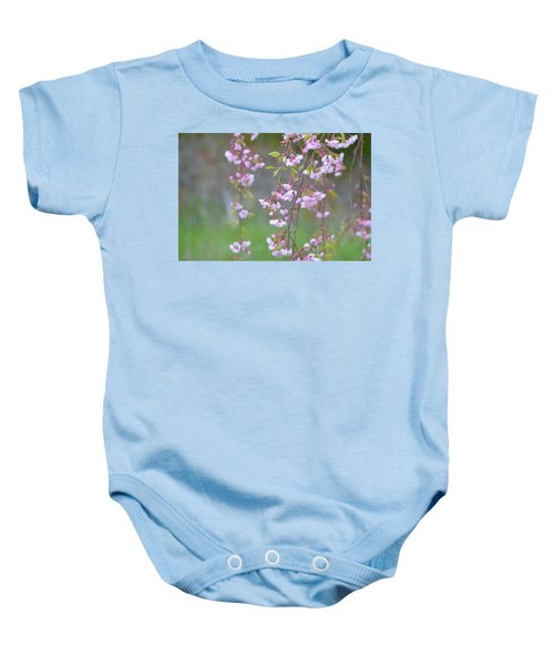 Weeping Cherry Blossoms Baby Onesie