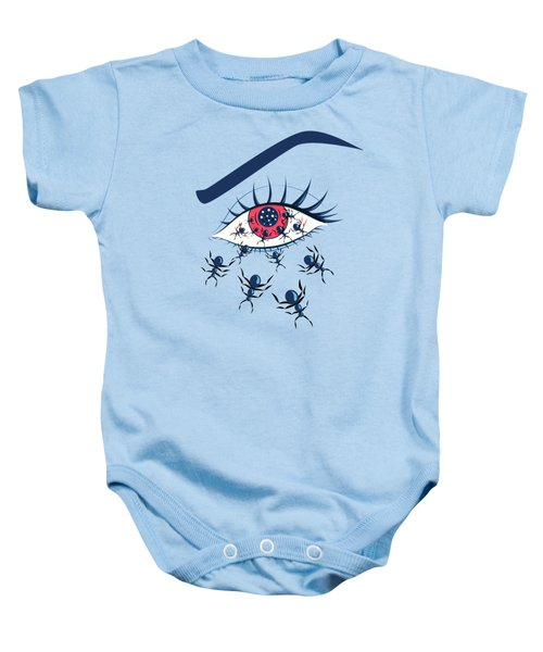 Weird Creepy Red Eye With Crawling Ants Baby Onesie