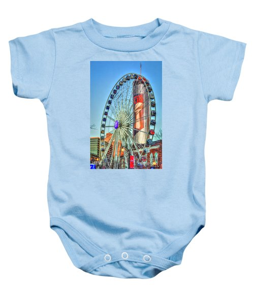 What A Ride Skyview Atlanta Westin Peachtree Plaza Super Bowl 2019 Atlanta Georgia Art Baby Onesie