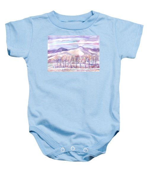 Winter Sunrise On A Frosty River Baby Onesie