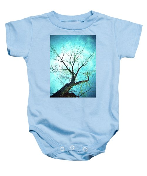Baby Onesie featuring the photograph Winter Tree Blue  by James BO Insogna