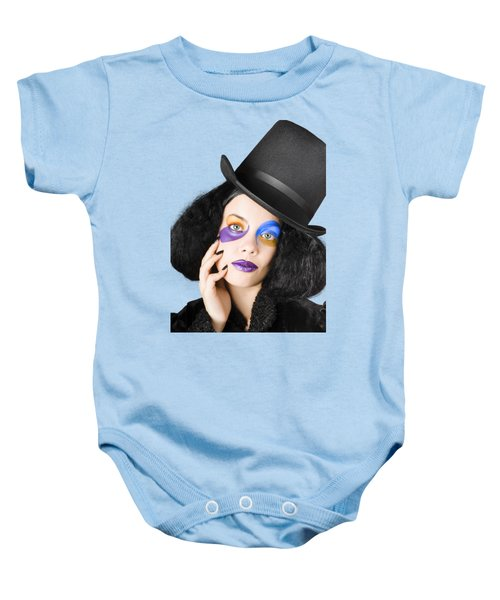 Woman Dressed As Jester Baby Onesie