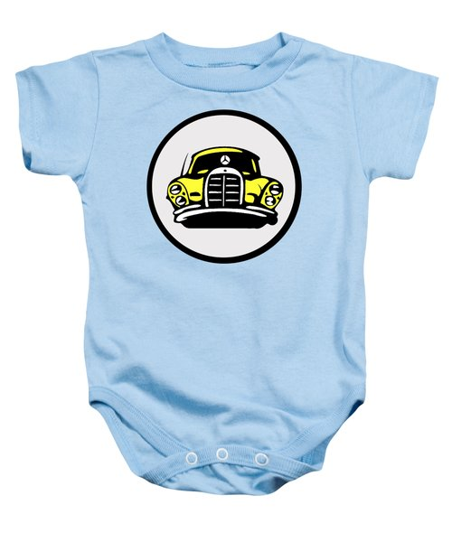 Yellow Mbz Pop Artwork Baby Onesie