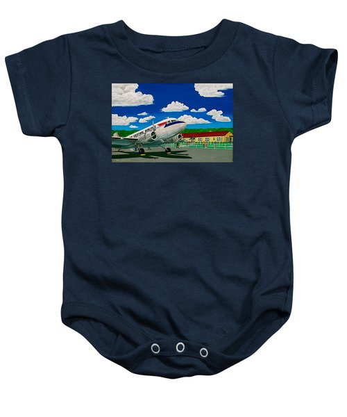 Portsmouth Ohio Airport And Lake Central Airlines Baby Onesie