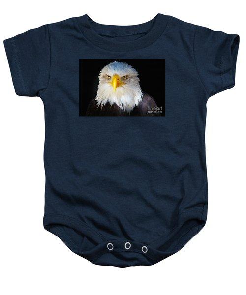Closeup Portrait Of An American Bald Eagle Baby Onesie